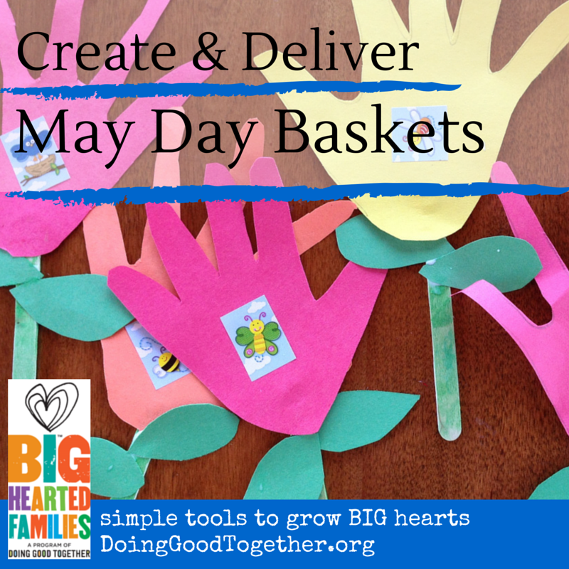 Spend family time creating May Day Baskets as a family!