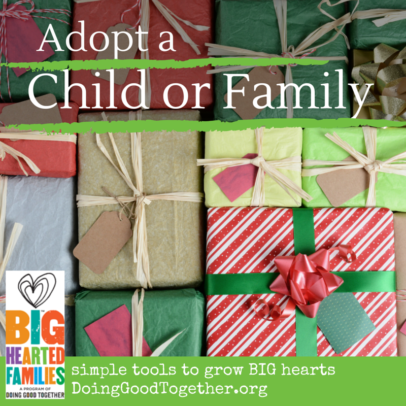 Adopt a child or family during the winter holidays.