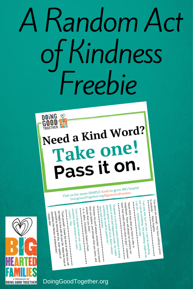 Random Acts of Kindness Freebie