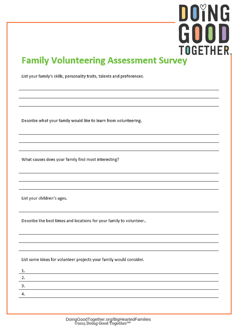 All Big-Hearted Families™ Worksheets