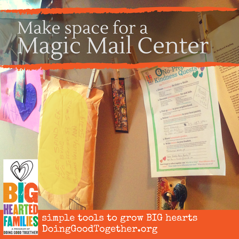 Print and post addresses, gather letter writing and drawing supplies, and invite kids to send the magic of kindness through the mail!
