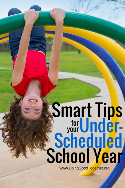 Smart tips for your under-scheduled school year