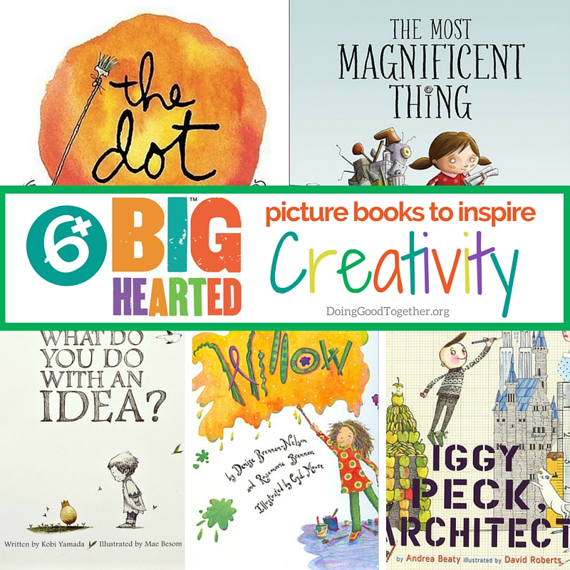 Books to inspire creativity from Big-Hearted Families™