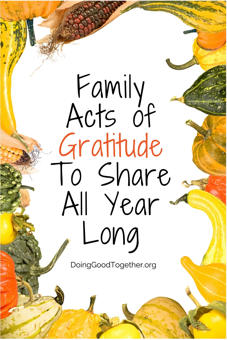 Tips and tools to encourage gratitude and share it with the world from DoingGoodTogether.org