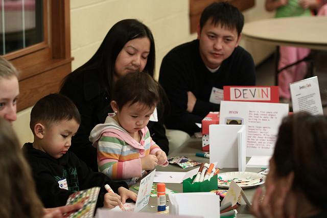Family Volunteering at Service Fair