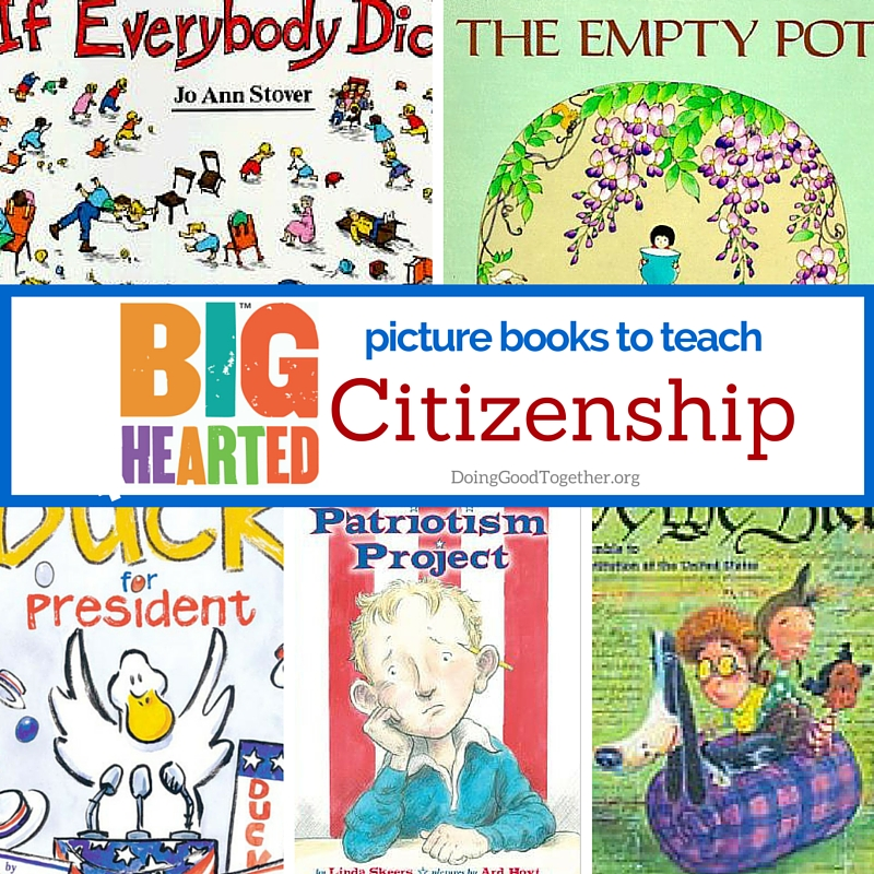 A growing list of inspiring picture books to teach citizenship and the political process.