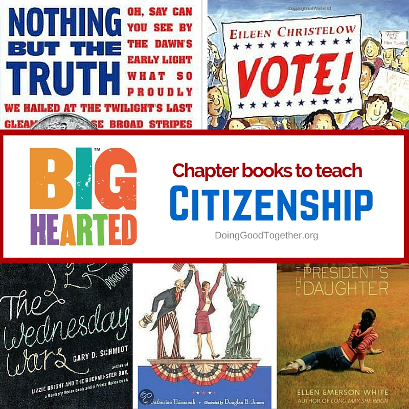 A growing list of chapter books to teach citizenship and the political process.