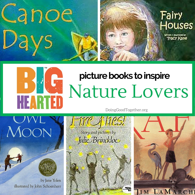 a growing list of picture books io inspire recycling, protection of wlderness areas, and environmental advocacy