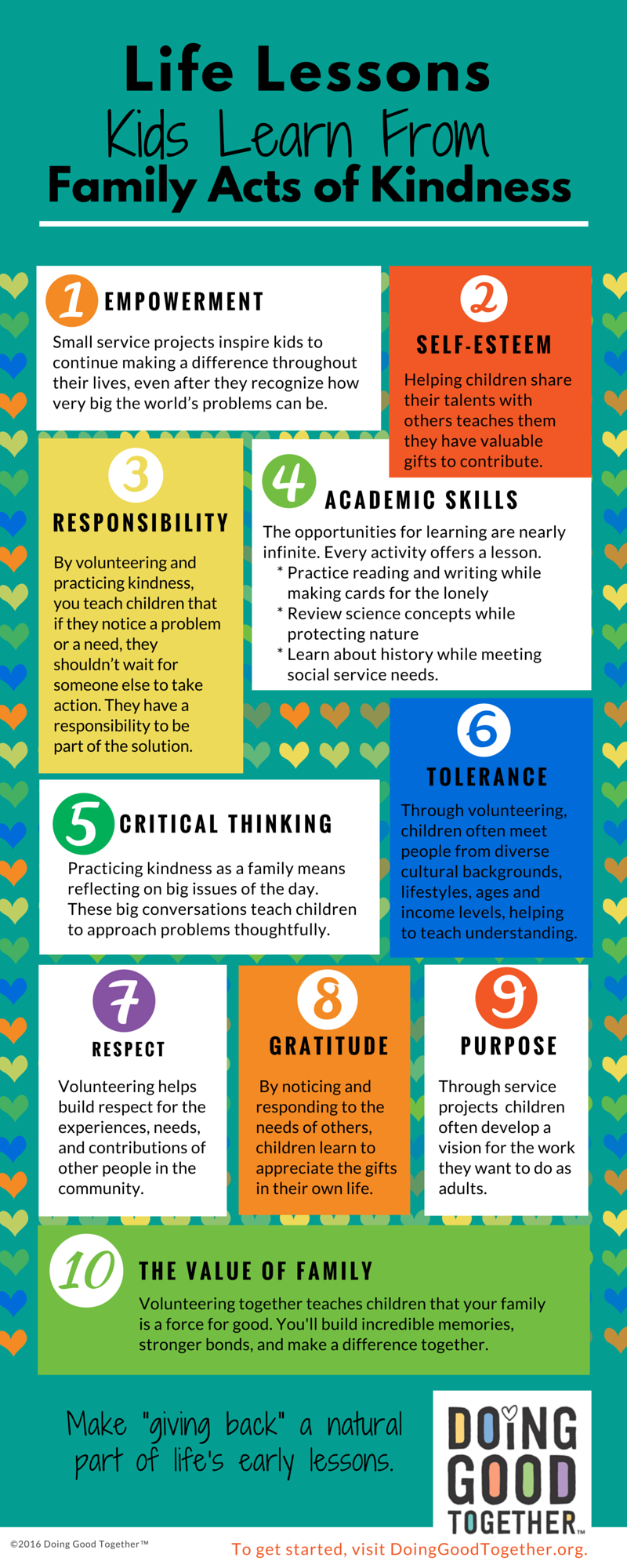 10 Life Lessons Infographic from Doing Good Together.org