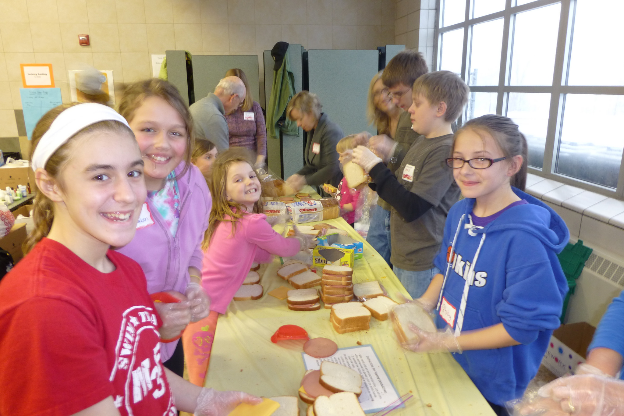 Students Volunteering for Others