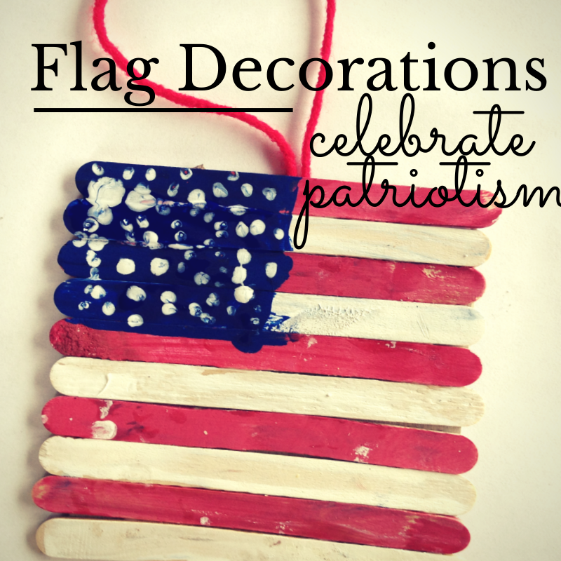 Popsicle stick flag craft to celebrate soldiers