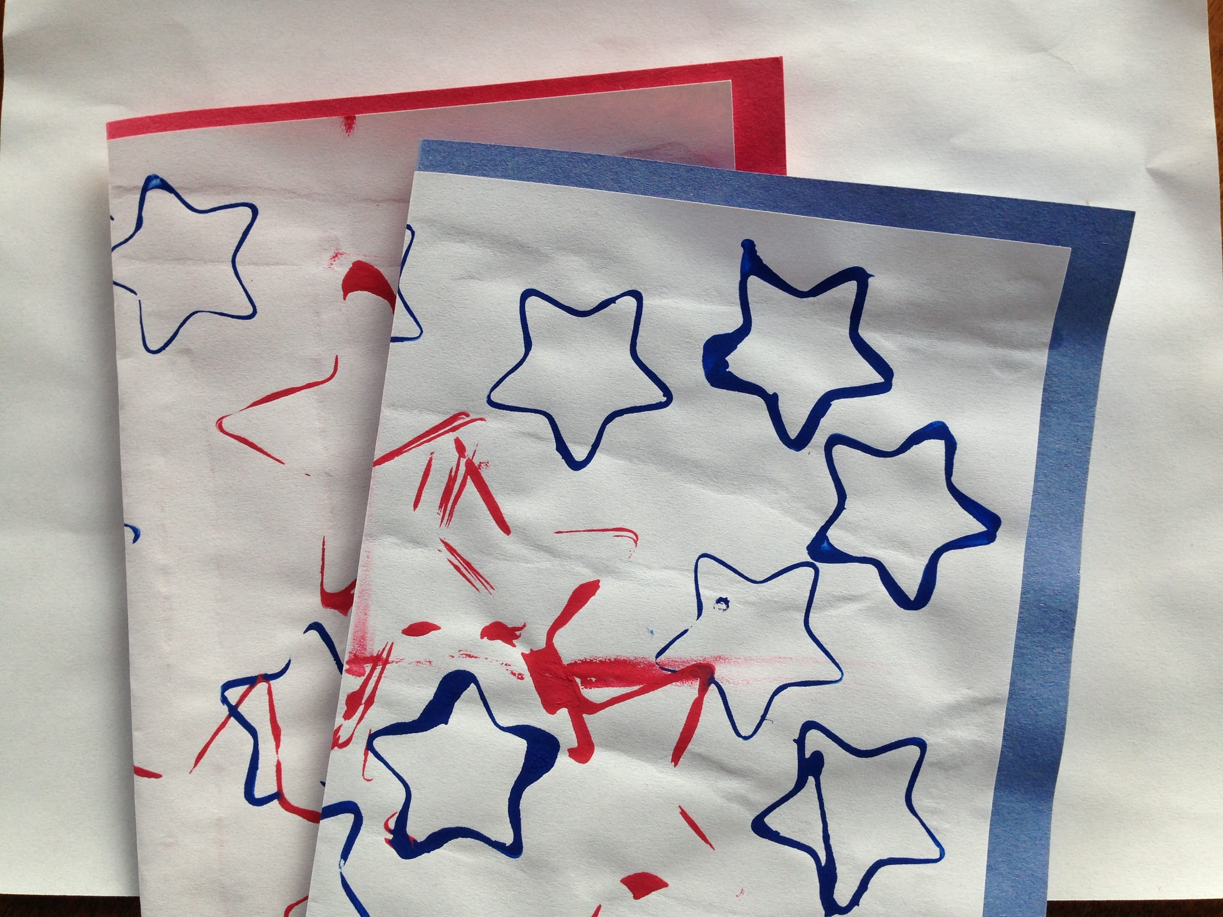 Scattered Star Thank You Cards