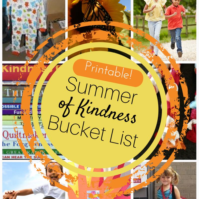 Printable Summer of Kindness Bucket List