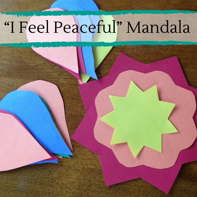 """I Feel Peaceful"" Mandala"