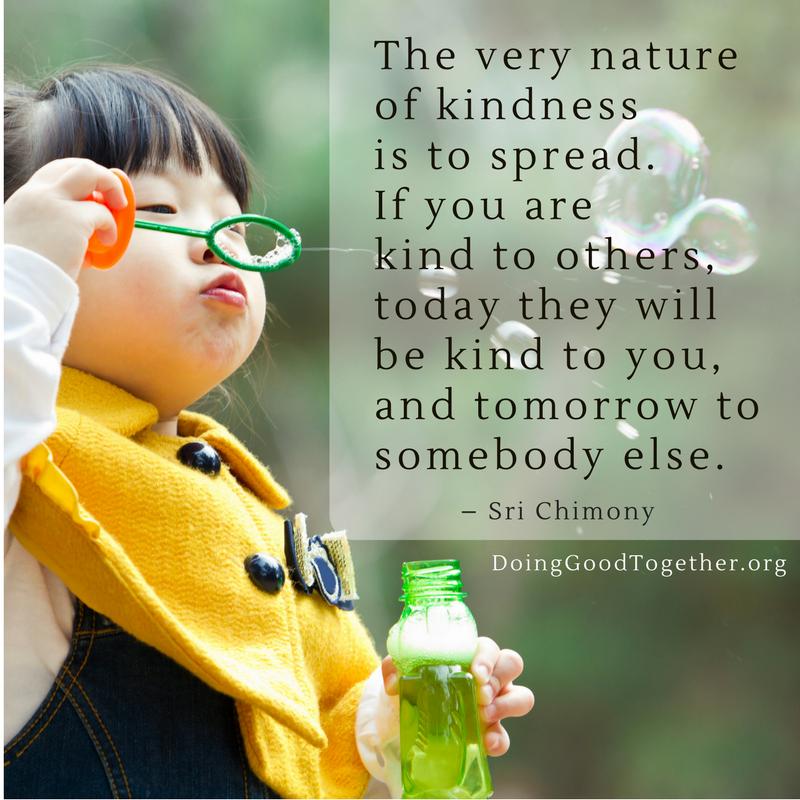 Share kindness, start now.