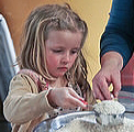 Girl Making Rice