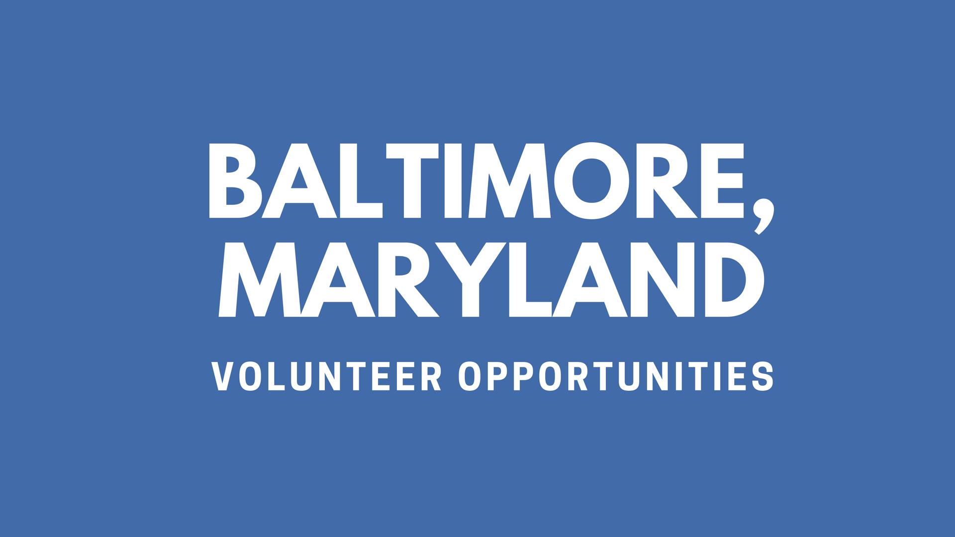Baltimore Volunteering