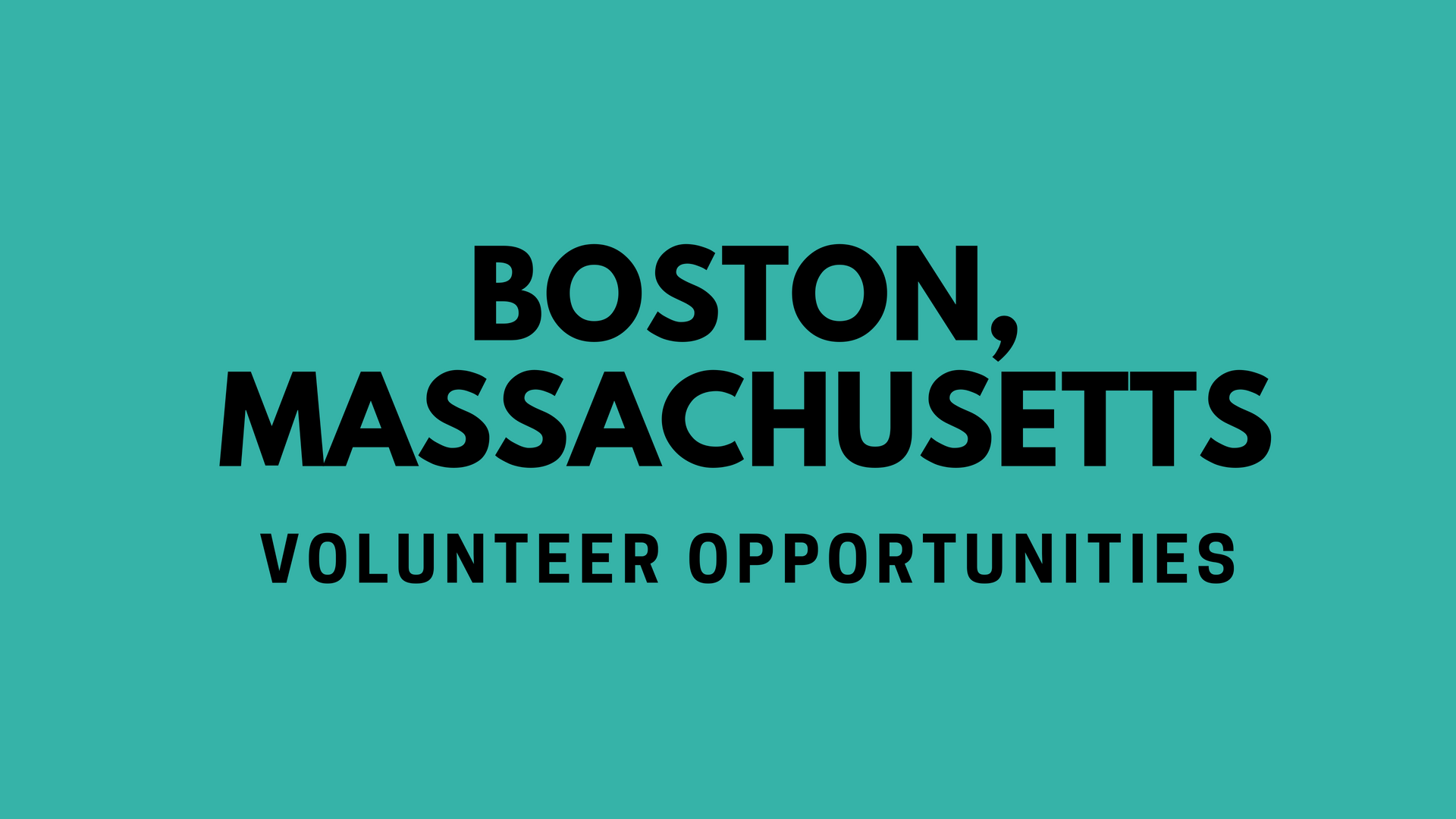 Boston Volunteering