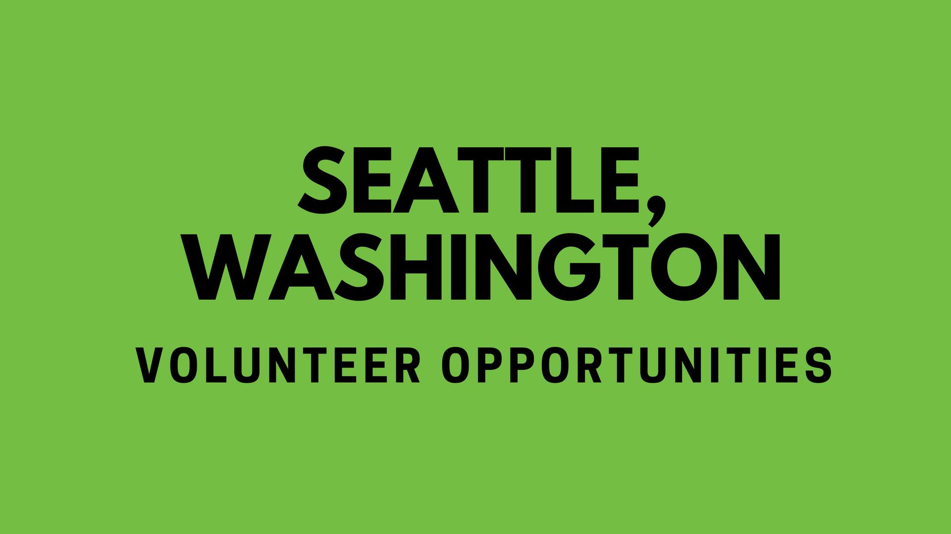 Seattle Volunteering
