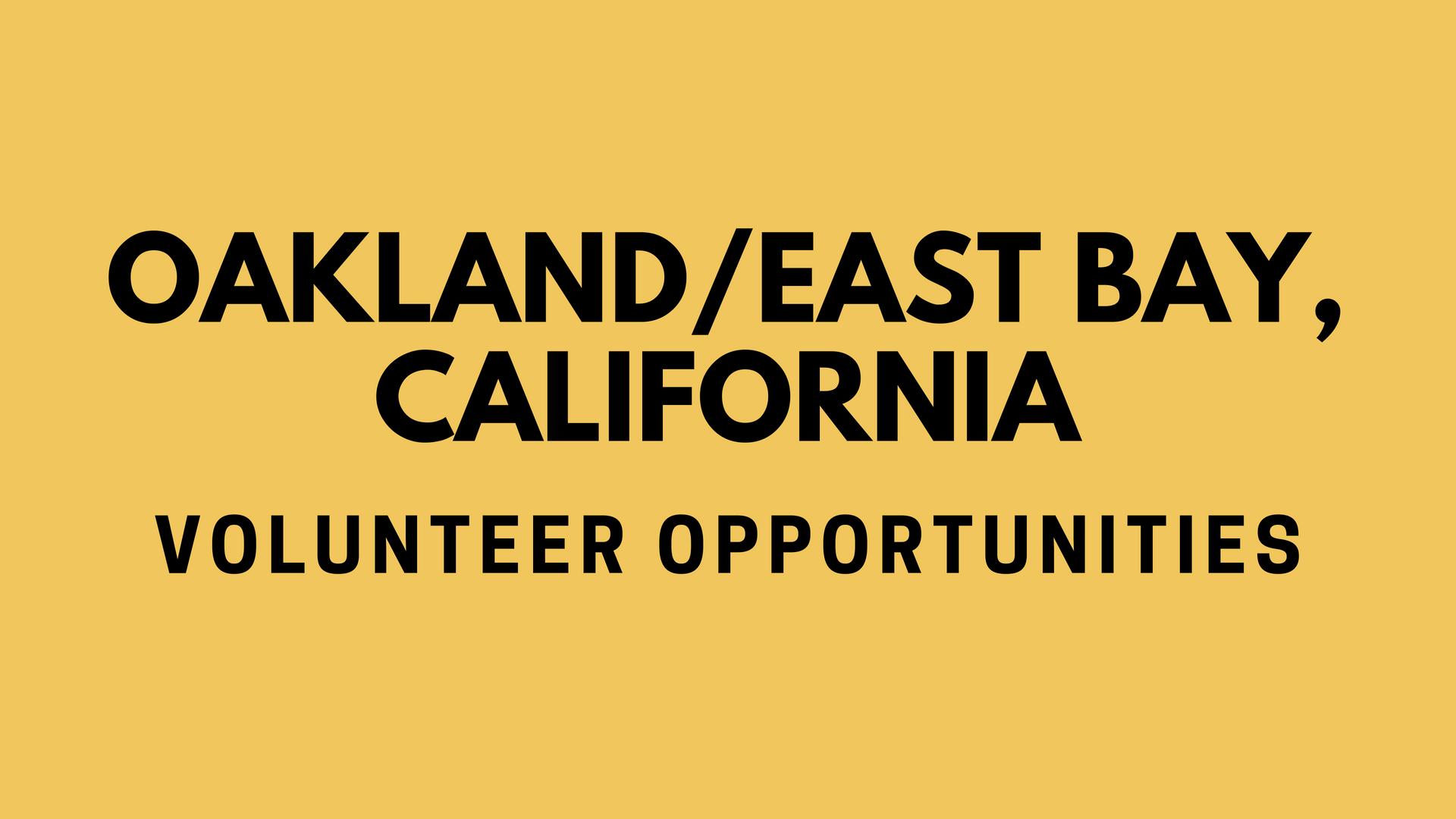 Oakland/East Bay Volunteering