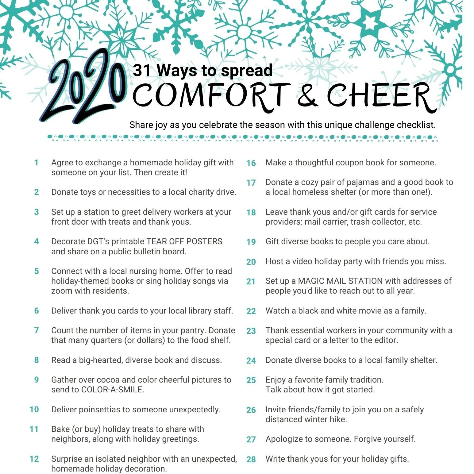 2020 Holiday Kindness Countdown