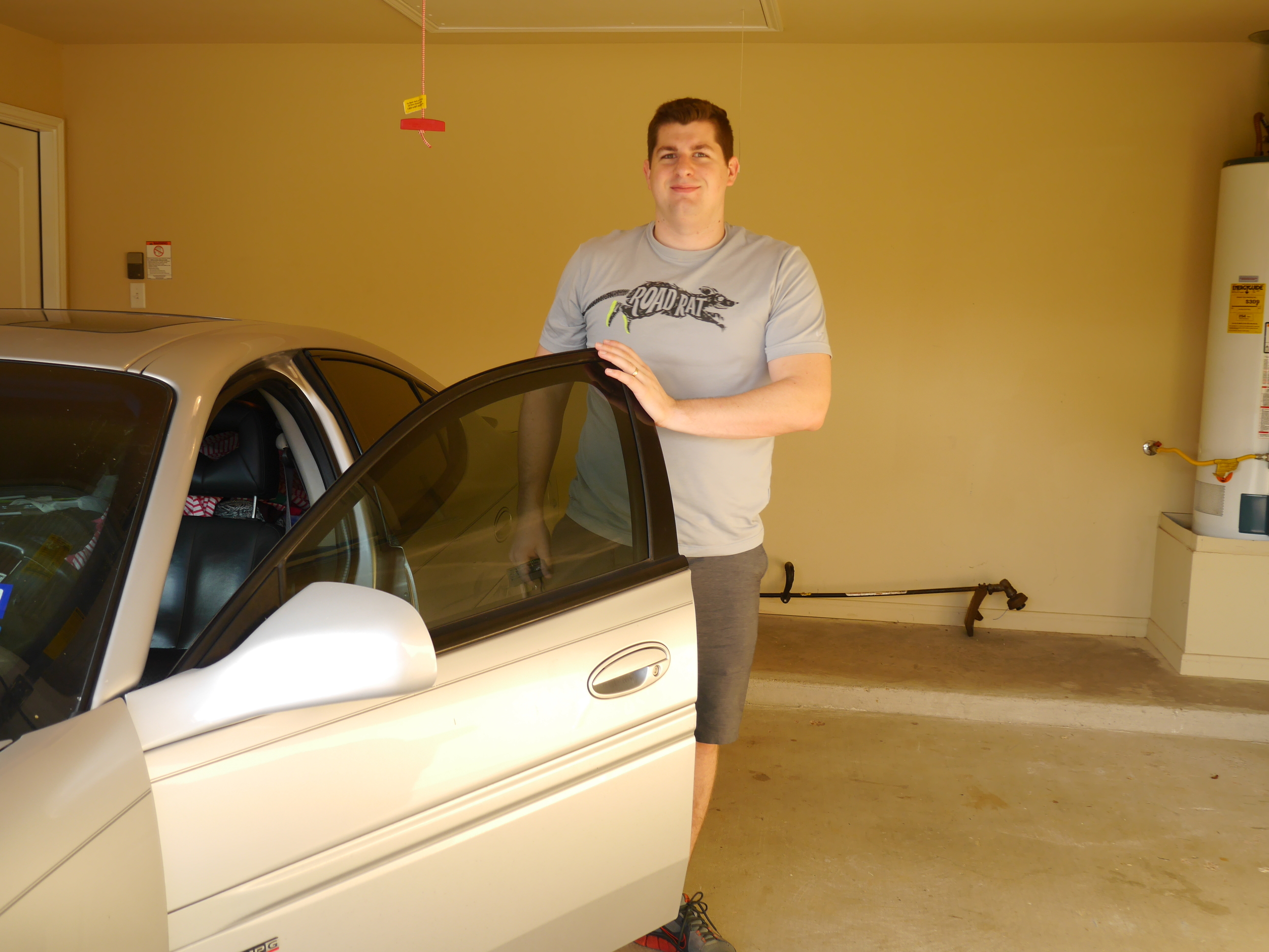 First time driving into garage