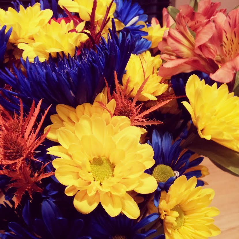 Beautiful birthday flowers.