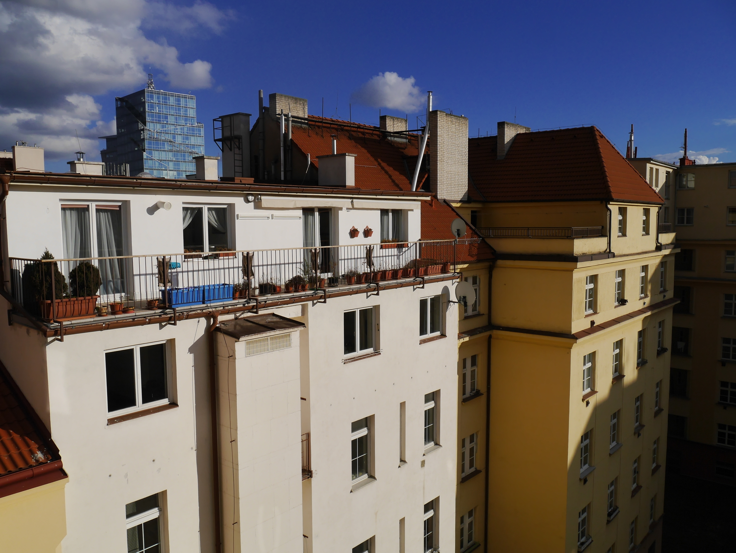 View from our apartment balcony.