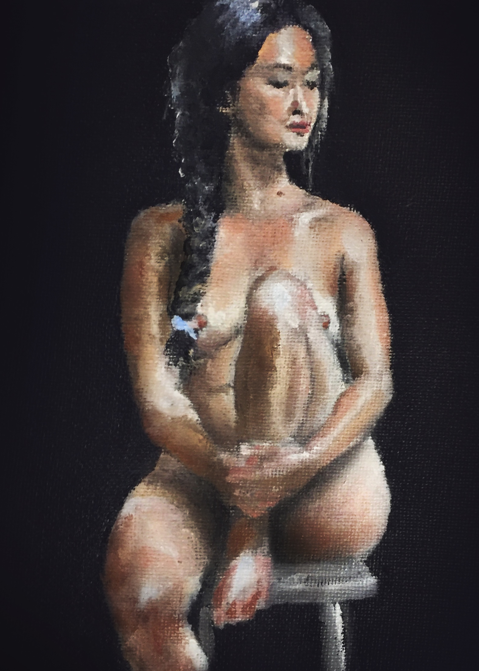 Alison  Oil on canvas panel. 5 x 7 in. 2017