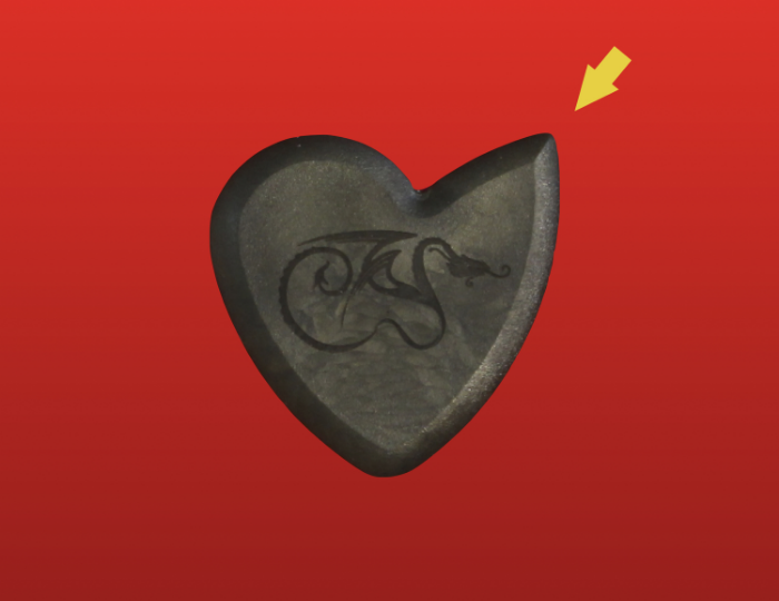 Dragon Heart Guitar Pick -- Optimized Jazz Edge