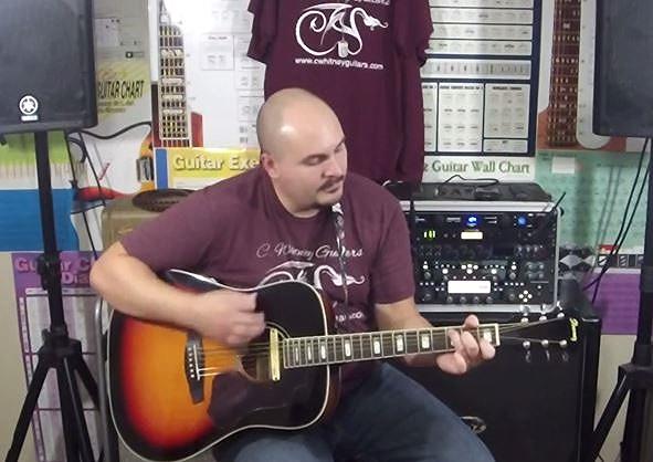 Me, doing a bit of guitar strumming