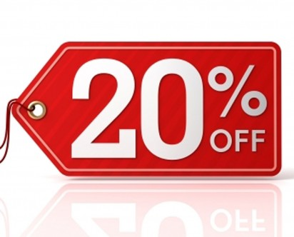 20% Off - Limited Time Offer