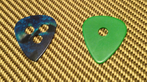 Hole Punched Guitar Picks