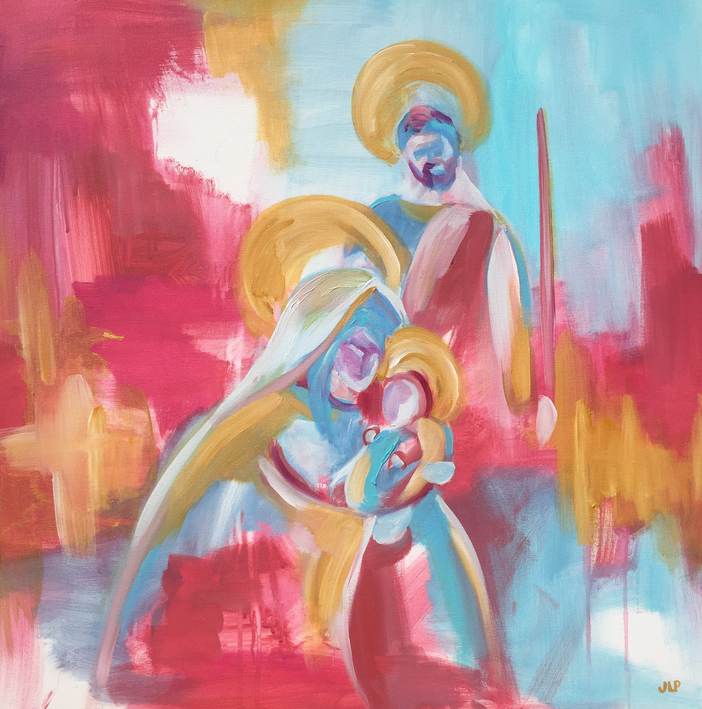 Holy Family 30x30in.