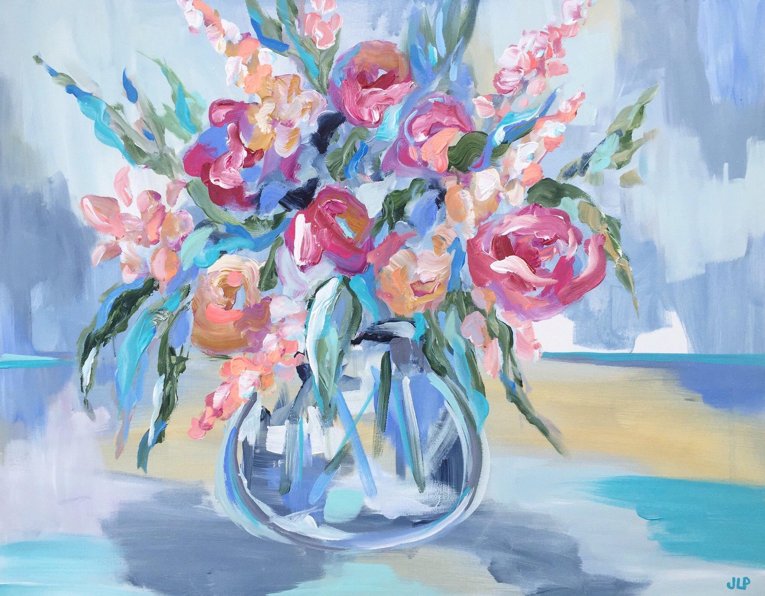Jennie Lou Art. Florals.