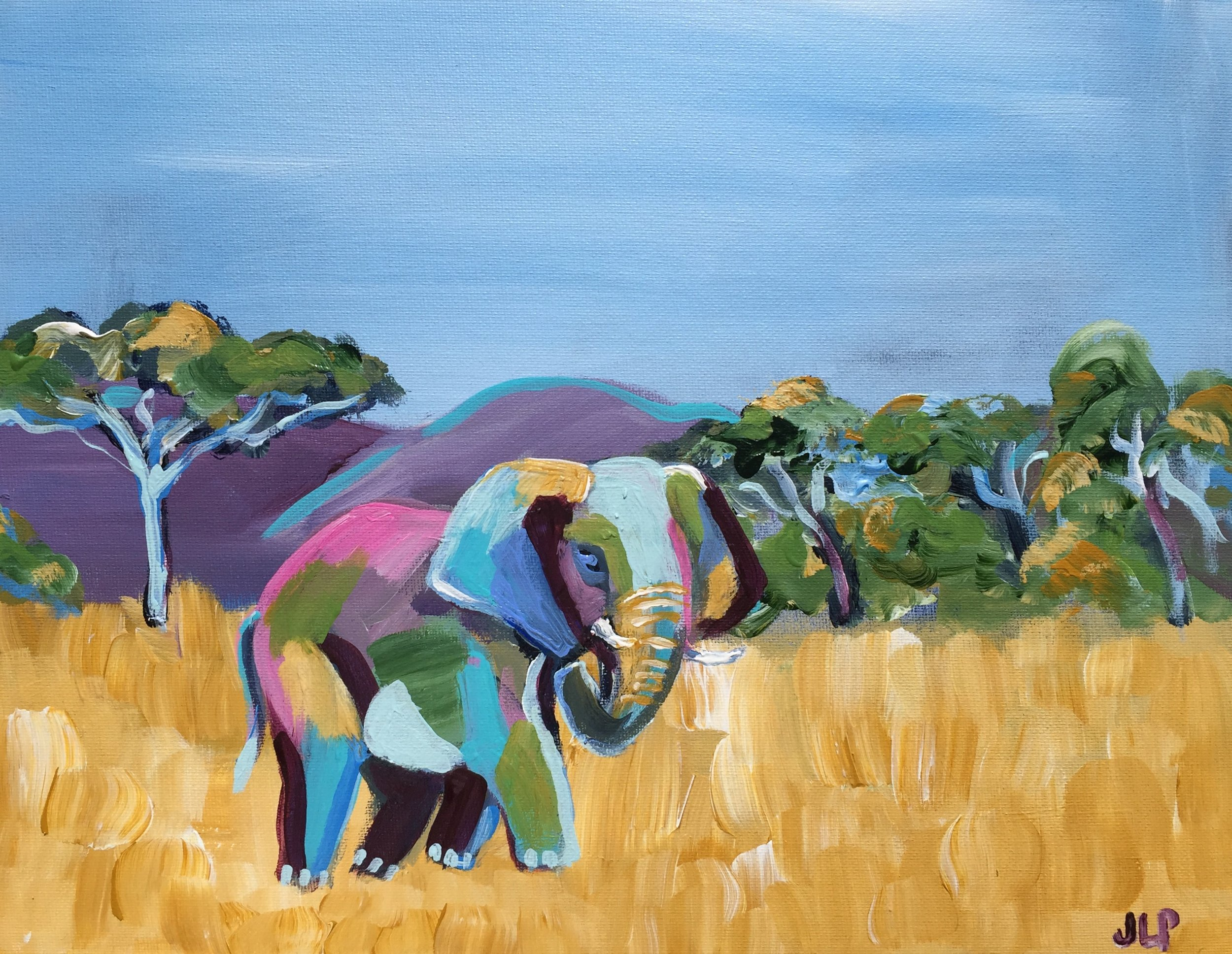 11x14in. Elephant