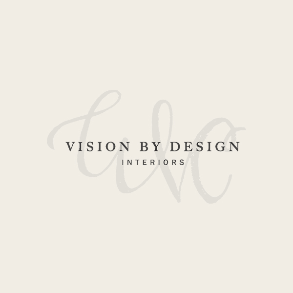 Vision by Design Interiors Logo Whitney Cliggett - Alisa Wismer Design + Illustration