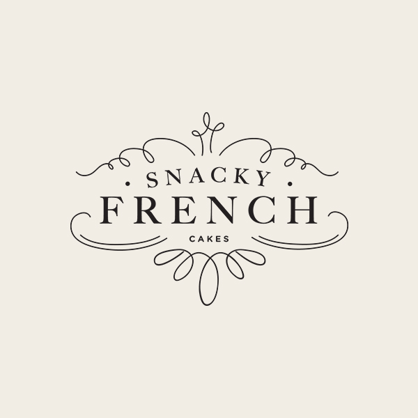 Snacky French Logo Design - Alisa Wismer Design + Illustration