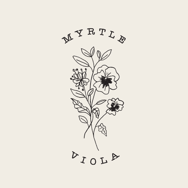 Myrtle & Viola Logo - Alisa Wismer Design + Illustration