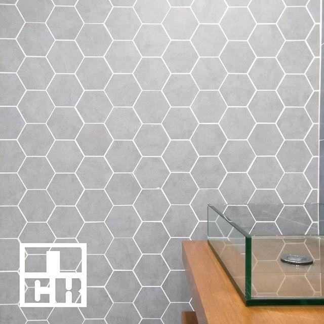 Grey hexagon tiles from Guocera.  #nckceramic #guocera #pattern #patterntiles #ihavethisthingwithtiles #tileaddiction #walltiles #decortiles #shadesofgrey #grey #interiordesign #interiordesignmalaysia #instahome #instadecor #instamood #designinspiration #designaddict #hexagon #porcelain #tilecrush #tileaddiction #patterntiles #walltiles #finishings