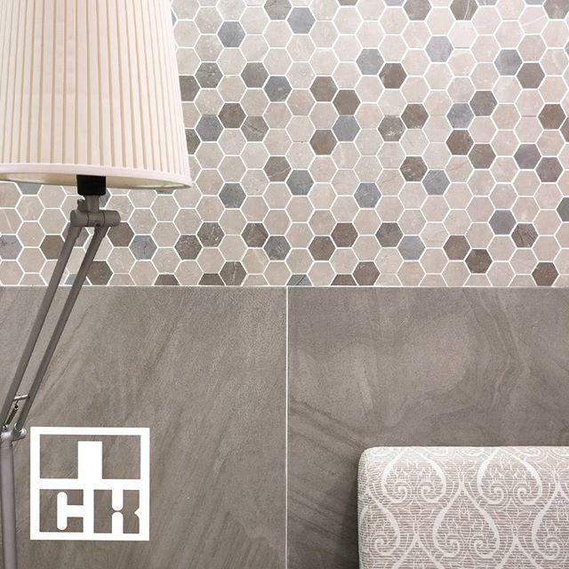 Brand: Guocera  Product(s) shown: Top - Pietra Toscana H. Comb Light 27cm x 32cm Bottom - Pietra Dorata Olive 60cm x 60cm  #nckceramic #guocera #pietra #hexagon #honeycomb #pattern #patterntiles #ihavethisthingwithtiles #tileaddiction #walltiles #decortiles #shadesofgrey #grey #interiordesign #interiordesignmalaysia #instahome #instadecor #instamood #designinspiration #designaddict #hexagon #porcelain #tilecrush #tileaddiction #patterntiles #walltiles #finishings