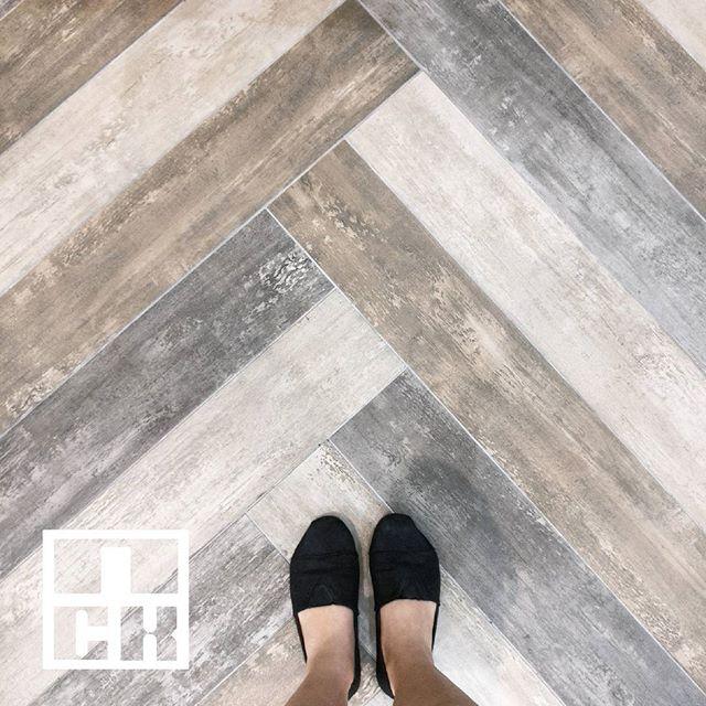 Wood-like tiles in 3 different color tones.  #nckceramic #guocera
