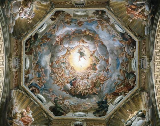 The Assumption of the Virgin , Antonion da Correggio - Cathedral of Parma, Italy