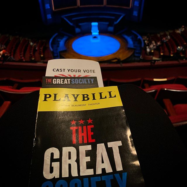 Great seat for #TheGreatSociety @coxusa @lincolncenter ❤️
