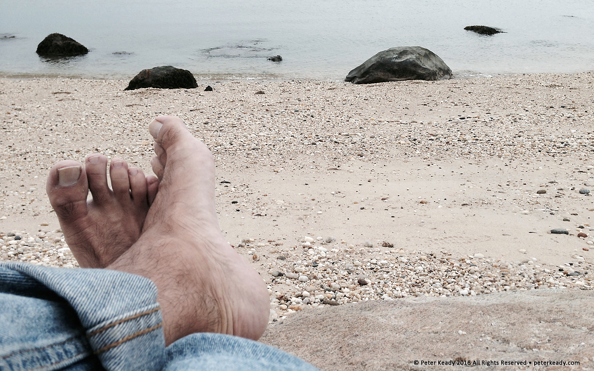 I kicked my feet up a bit on the Northern Shore of Long Island, gazing at the sound. Regular, intentional times of rest - called Sabbath - are essential in the care of the soul and sole!