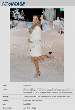 """On The red carpet of """"FROZEN"""" Premiere"""
