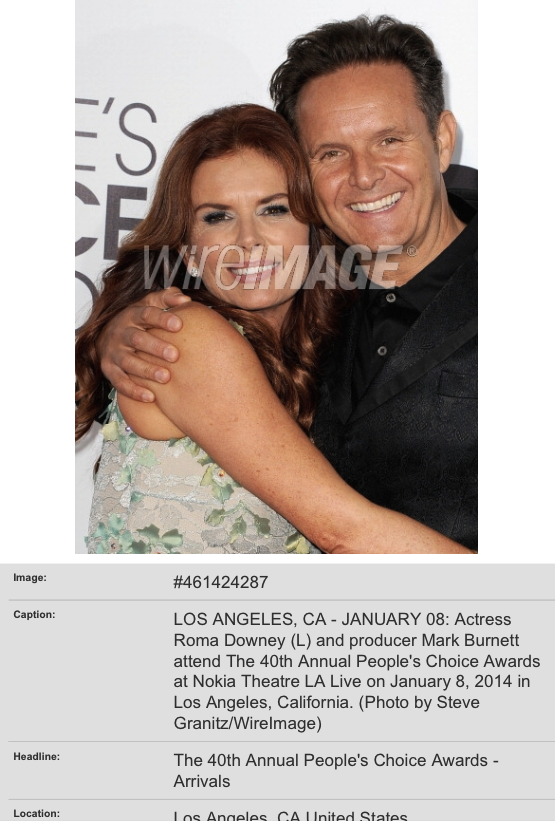 Roma Downey & Mark Burnett at People's Choice Awards red carpet