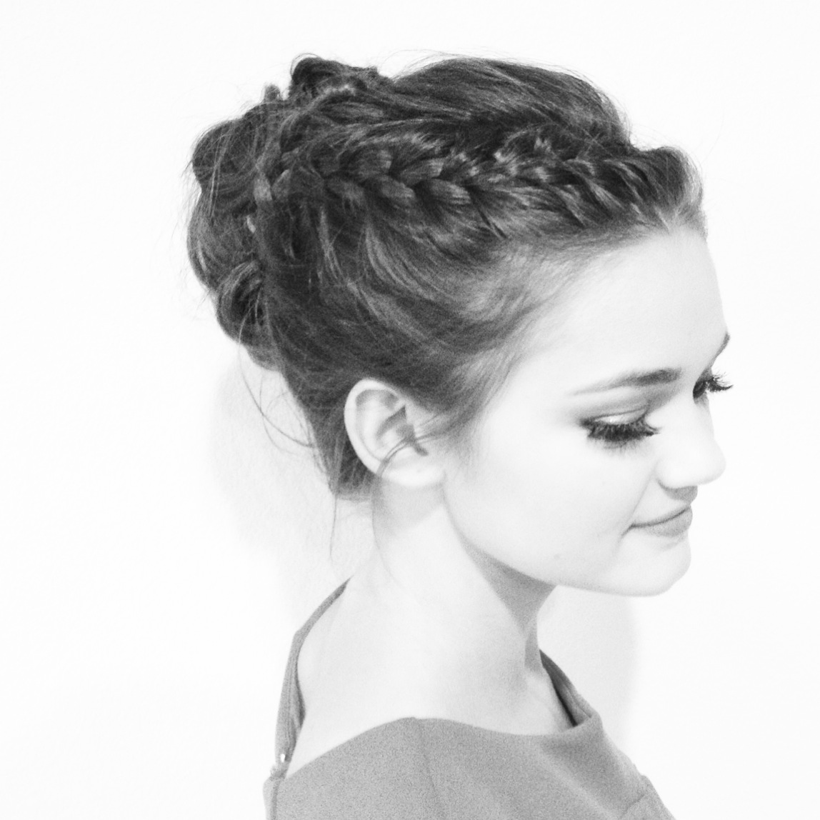 Beautiful braided Up Do- perfect choice for a Summer Event.