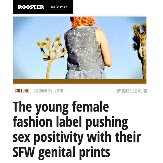 Check out our feature on ROOSTER.com! We had the opportunity to talk about our collaboration brand with the L.A. sex writer, Isabelle Kohn. Read about the concept behind the design of our BODY PARTS clothing collection -- we are thrilled to share our interview!