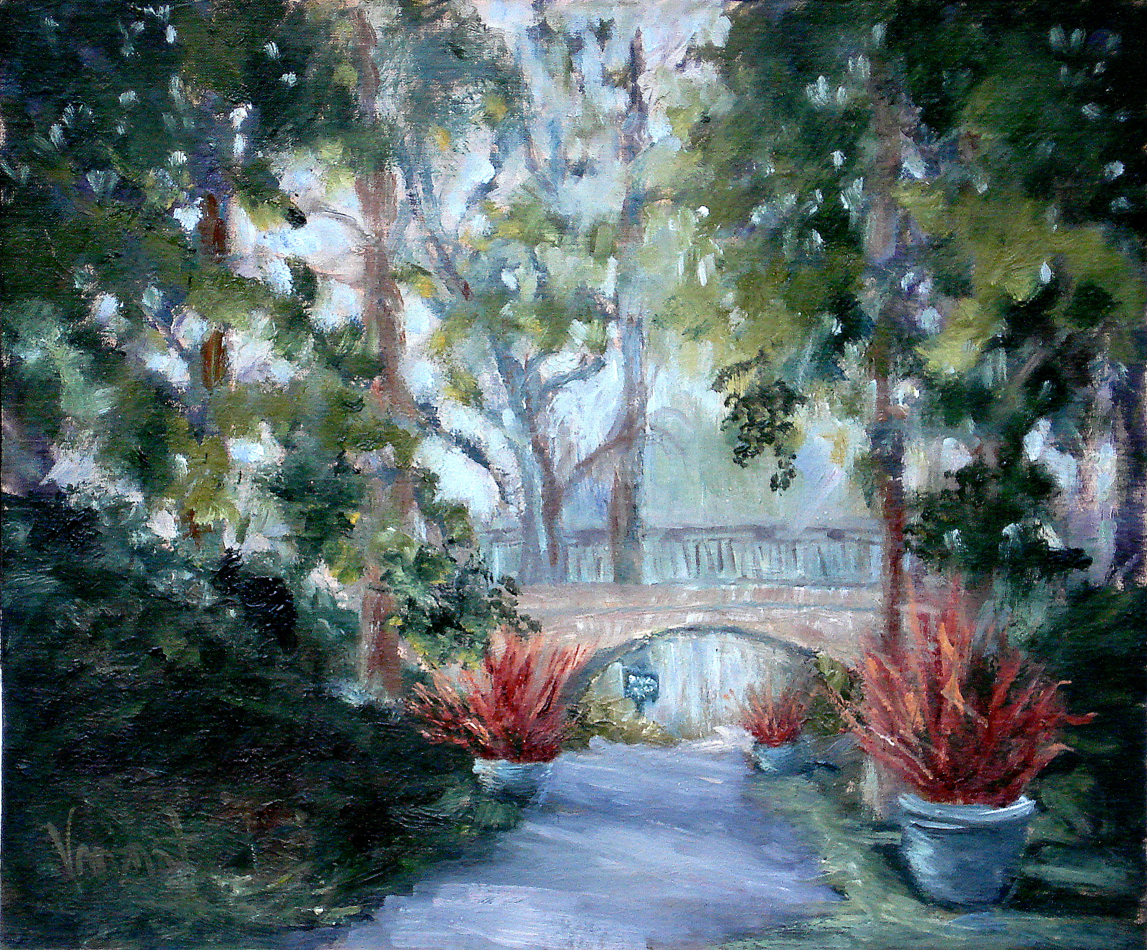 Study of Longwood Gardens Bridge